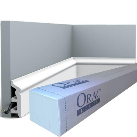 carton de 16 mètres de SX122 Plinthe polymère Orac Decor Axxent - 8x2,2x200cm (h x p x l) - conditionnement : Carton de 8 pièces