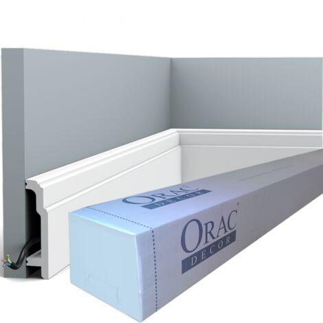 carton de 16 mètres SX155 Plinthe Polymère Orac Decor Luxxus - 11x2,5x200cm (h x p x l) - rigideouflexible : rigide - conditionnement : Carton de 8 pièces