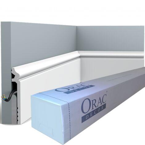 carton de 16 mètres SX186 CONTOUR Surplinthe Polymère Orac Decor Axxent - 13,8x2,2x200cm (h x p x l) - conditionnement : Carton de 8 pièces