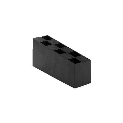 Carton de 50 Cales crantées multi-usage - 70 x 45 x 150 mm NOIRES - Noir / Ebène
