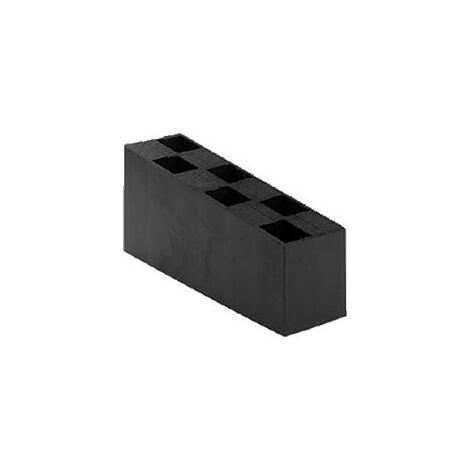 Carton de 80 Cales crantées multi-usage - 70x45x150 mm NOIRES - Noir / Ebène