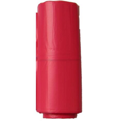 Carton de de 200 sacs poubelles rouges 110 litres Epaisseur 50µ