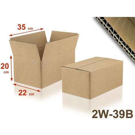 Lot de 5 Cartons double cannelure 2W-39B format 350 x 220 x 200 mm
