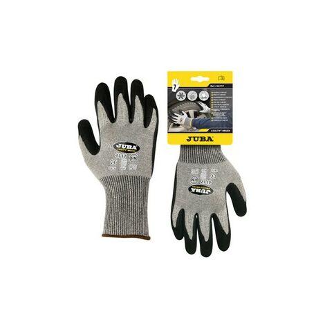 Carton guante h4117/ 9 negro gris invierno