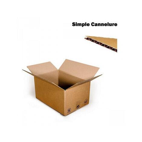 Carton Simple Cannelure CAISSE AMERICAINE 20x14x14 Cm Lot De 100