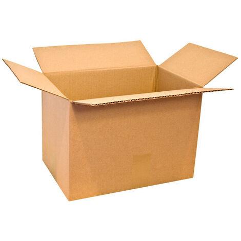 Carton Simple Cannelure CAISSE AMERICAINE 23x19x12 Cm Lot De 100