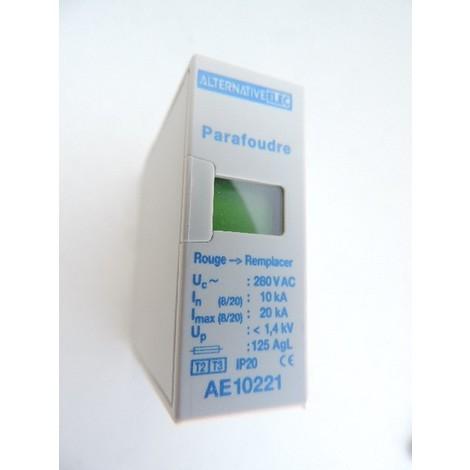 Cartouche 20kA débrochable pour parafoudre modulaire Type 2 ALTERNATIVE ELEC AE10221
