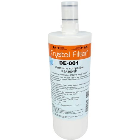 "Cartouche Crystal Filter® DE-001 compatible R8A360NF ""Carafe"" Jacob Delafon"