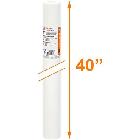 """Cartouche Crystal Filter® PP-10-40 sédiment SPUN 40"""" - filtre 10 µm"""