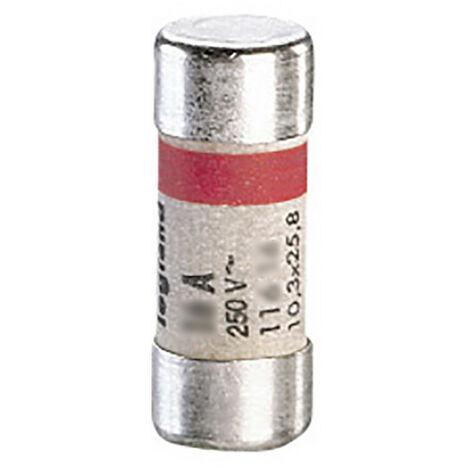 Cartouche cylindrique domestique 10,3x25,8mm avec voyant 16A (011716)