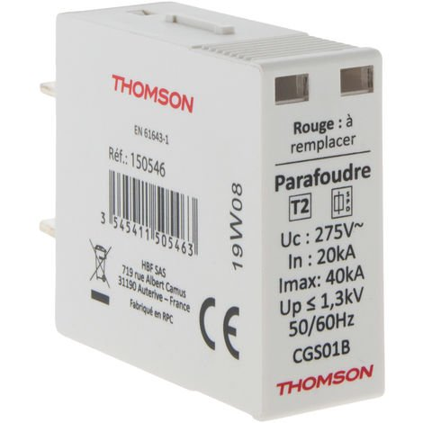 Cartouche de rechange pour parafoudre modulaire - 40kA - Thomson