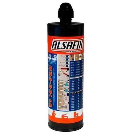 Cartouche de scellement chimique Vinylester grise VI100-PRO 400 ml - VI100400 - Alsafix - Gris