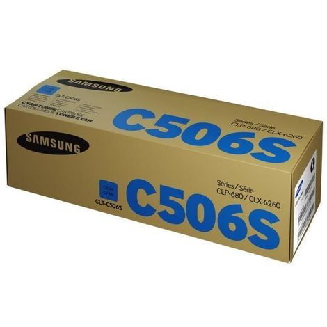 Cartouche de toner cyan Samsung CLT-C506S (SU047A) pour CLP-680ND CLX-6260 Series Hp