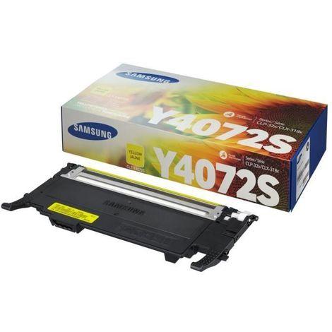 Cartouche de toner jaune Samsung CLT-Y4072S (SU472A) pour CLP-320/SS060A/CLX-3185 Series Hp