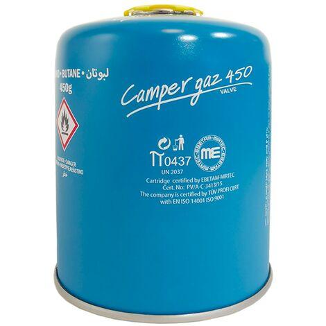 Cartouche gaz Butane 450g Camper Gaz Bouteille de gaz à vis Camping
