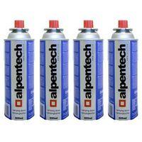 Cartouche gaz camping 4 x 227g Alpentech butane UN2037 Recharges pour Désherbeurs Réchauds et Lampes camping