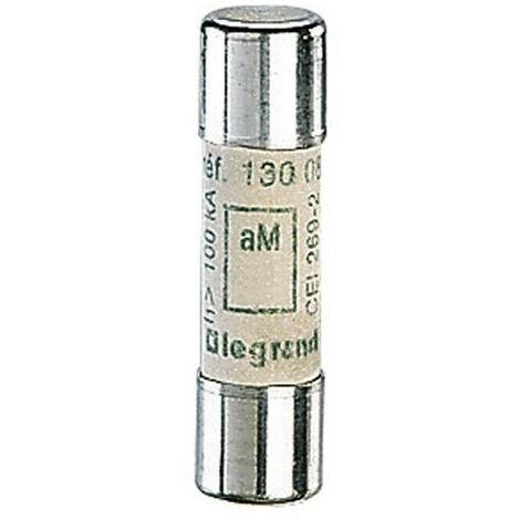 Cartouche industrielle cylindrique - Type aM - 10x38 - 2A - 500V - Sans voyant