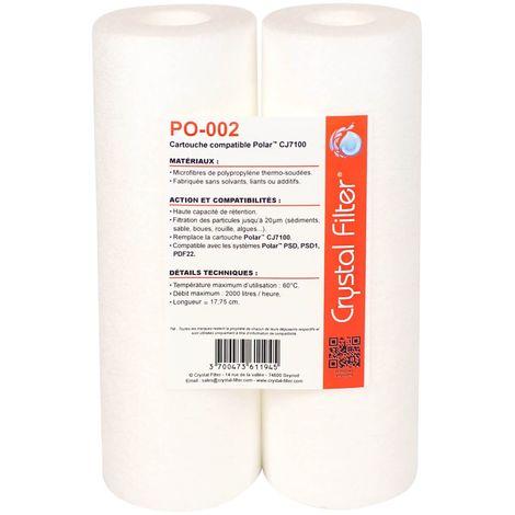 Cartouche PO-002 compatible CJ7100 pour POLAR (lot de 2) - Crystal Filter®