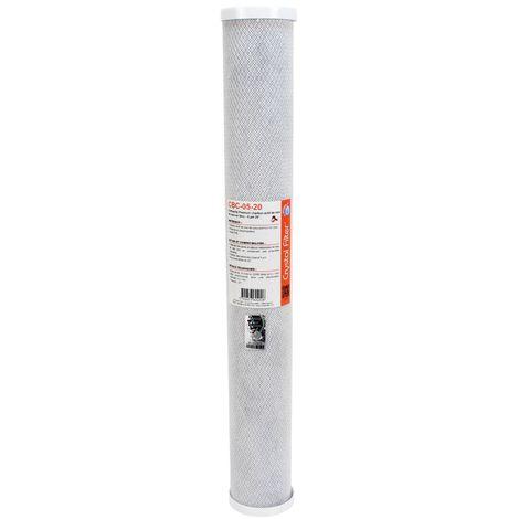 """Cartouche Premium charbon actif 20"""" - 5 µm - Crystal Filter® CBC-05-20"""
