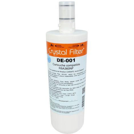 "Cartouche R8A360NF compatible pour ""Carafe"" Jacob Delafon - Crystal Filter® DE-001"