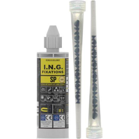 Cartouche résine scellement méthacrylate SP ING FIXATIONS - 170 ml - Gris - A050025