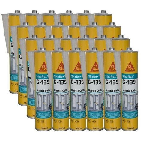 Cartouches Colle mastic Sikaflex G-139 Sika - Conditionnement: 12 cartouches de noir