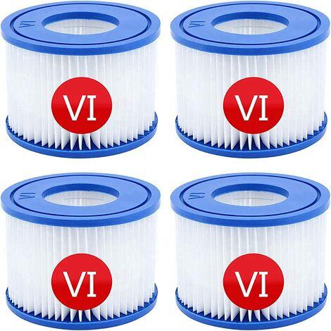 """main image of """"Cartouches filtrantes pour piscine pour Bestway VI pour Lay-Z-Spa Miami, Lot de 4 filtres, cartouche filtrante filtre de nettoyage de piscine"""""""