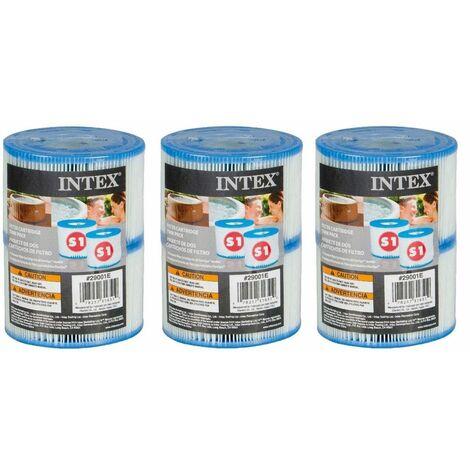 Cartouches pour SPA - Intex - 3 lot de 2 cartouches de filtration soit 6 cartouches