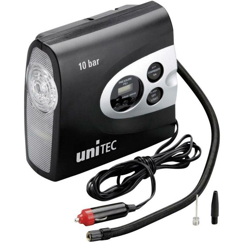cartrend 10945 Compressore 10 bar con lampada, vano alloggiamento cavo, Display digitale, Spegnimento automatico
