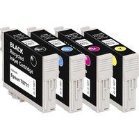 Cartuccia Basetech Compatibile sostituisce Epson T0711, T0712, T0713, T0714 Imballo multiplo Nero, Ciano, Magenta,