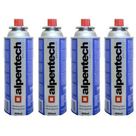 Cartucho de gas para camping 4 x 227g Alpentech butano UN2037 Recambios para quemadores de malezas Estufas y luces para camping