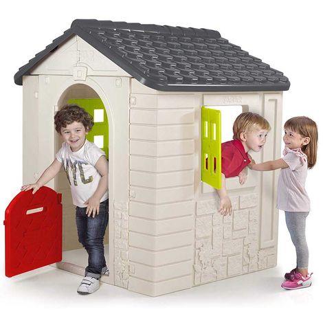 Casetta Per Giardino Plastica.Casa Casetta Bambini Esterno Giardino Plastica Con Porta E Finestre