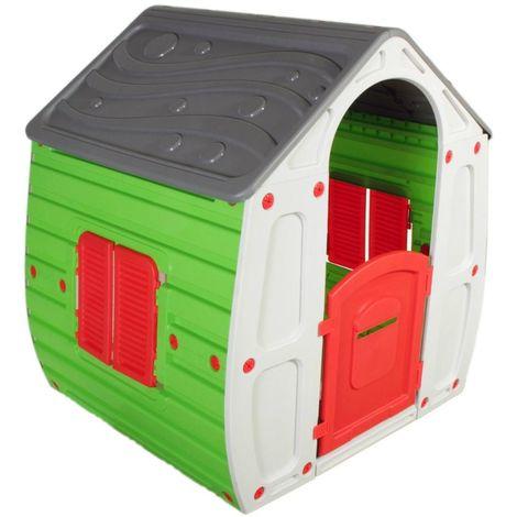 Casetta Per Giardino Plastica.Casa Casetta Bambini Resina Termo Plastica Per Gioco Da Giardino