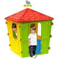 Casa Casetta Da Giardino Resina Termo Plastica Per Gioco Bambini Cm 108X108X152H