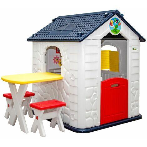 Casa de Juegos con Mesa para Niños1 Año Cabaña Jardín Exterior Interio