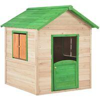 Casa de juegos de niños de madera verde