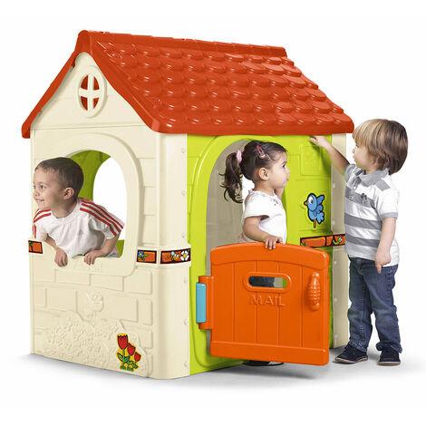 Casa de juegos de plástico para niños Fantasy House Feber