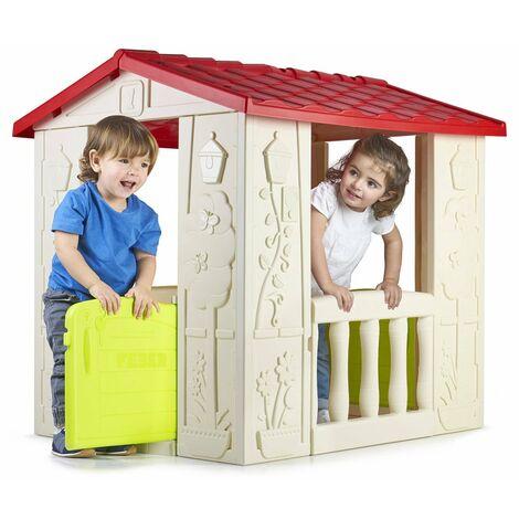 Casa de juegos de plástico para niños Happy House Feber