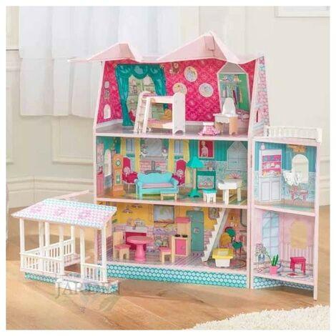 Casa de muñecas abbey de madera