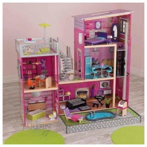 Casa de muñecas uptown de madera