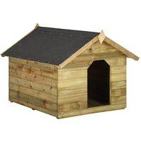 a894ba74e Casa de perros jardín tejado abierto madera pino impregnada FSC