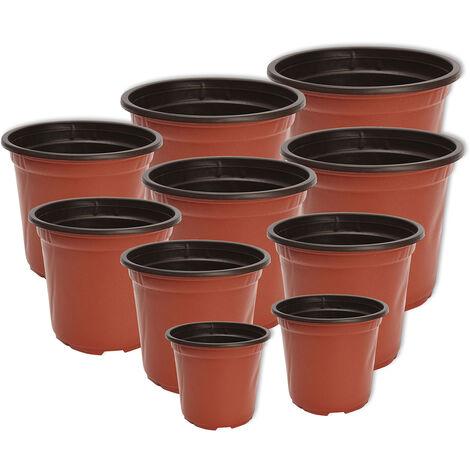 Casa del balcone della piantatrice delle piante da giardino di plastica rotonde del vaso da fiori 100pcs