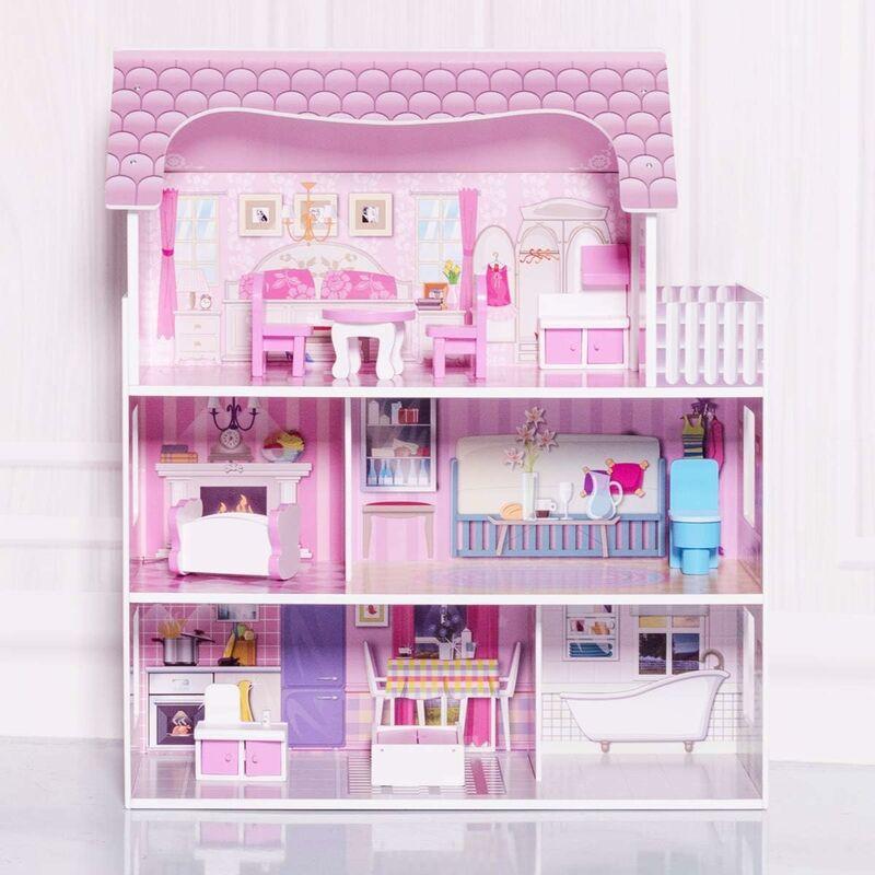 modellazione per casa delle bambole mobili e accessori per scala 1//12 poltrona a dondolo decorazione per bambini bricolage giocattolo fai da te Casa delle bambole in legno