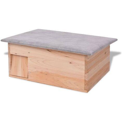 Casa para erizos de madera 45x33x22 cm