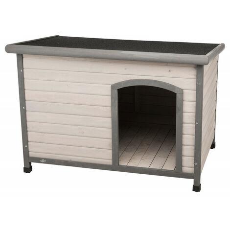 Casa para perros Tejado plano clásico Tamaño W. 116 x 82 x 79 cm . gris