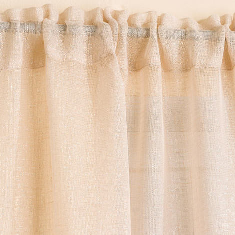 Casablanca Voile Panel Curtain in Cream 138cm x 229cm