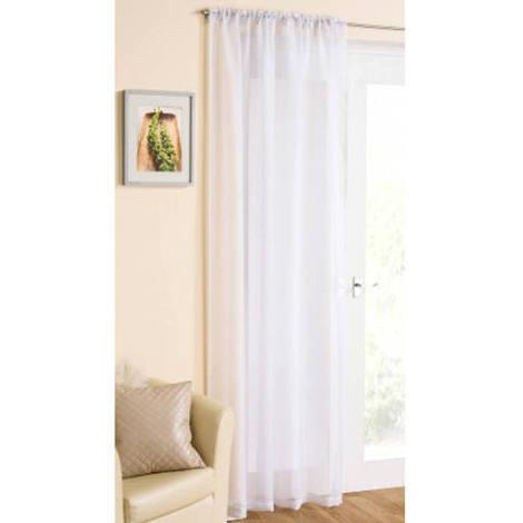 Casablanca Voile Panel Curtain in White 138cm x 229cm