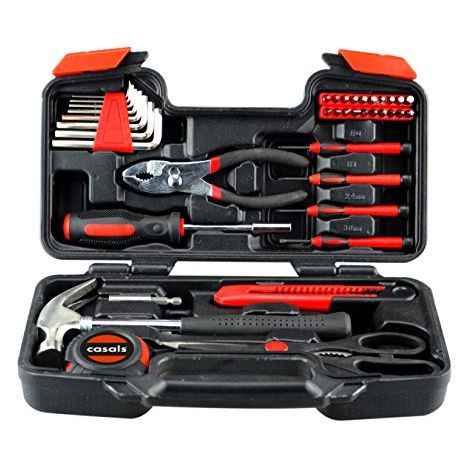 Casals HH39 - Set herramientas 39 piezas (puntas de atornillar, llaves hexagonales, destornilladores de precisi