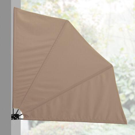 [casa.pro] Balcon - parasol mural (160 x 160 cm) protection anti-regards / store pliable (diff?rents coloris)