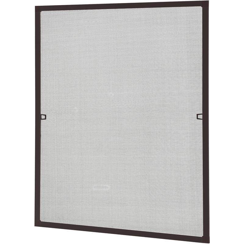Alu 130cm x 150cm, 22mm Einh/ängewinkel M/ücken Insektenschutz Braun optimal f/ür Roll/äden Fliegengitter Fenster